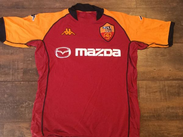 2002 2003 Roma CL Home Football Shirt Adults Large